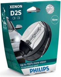 Ксеноновая лампа D2S Philips Xenon X-tremeVision gen2 +150% (ОРИГИНАЛ)