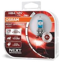 Галогенные лампы HB4 (9006) OSRAM NIGHT BREAKER LASER NEXT GENERATION +150% (пара)
