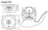 Автомобильная акустика JBL Stage2 524