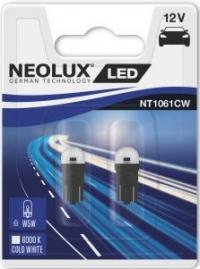 Светодиодные LED лампы W5W ( T10, W2.1x9.5d ) NEOLUX NT1061CW-02B 6000K (пара)