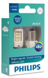 Светодиодные лампы P21W / BA15s PHILIPS Ultinon LED 6000К 11498ULWX2 (пара)