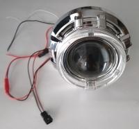 """Биксеноновые линзы 3,0"""" AutoPower APH13.0 Morimoto G6 H1 с масками CAY/A1 и LED кольцами """"ангельские глазки""""  (пара)"""