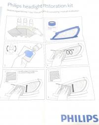 Набор для полировки и защиты от УФ стекол фар PHILIPS HRK00XM