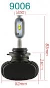 Светодиодные лампы LED N1/S1 CSP с цоколем 9006 / HB4 (пара)